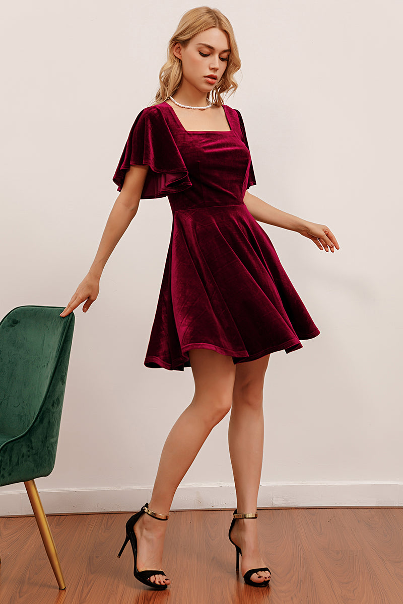 Load image into Gallery viewer, Velvet Short Party Dress