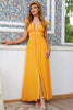 Load image into Gallery viewer, Yellow Maxi Boho Bridesmaid Dress