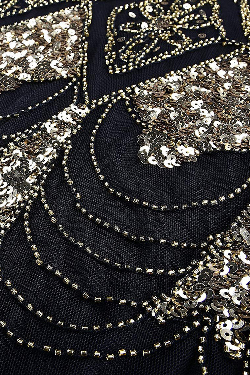 Load image into Gallery viewer, 1920s Sequins Flapper Long Dress