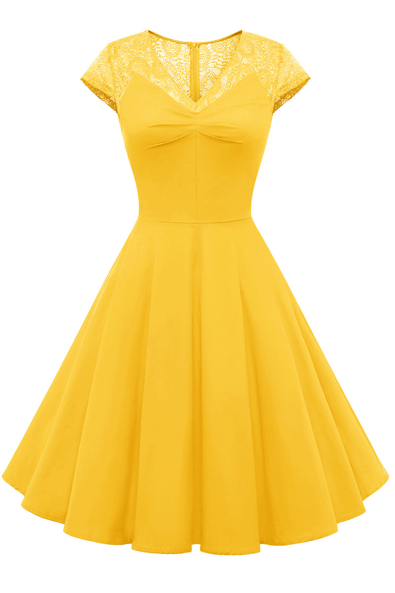 Load image into Gallery viewer, Green Vintage Swing 1950s Dress