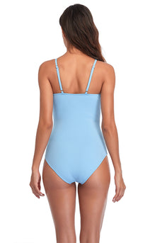 Halter Open Back One-Piece Swimwear