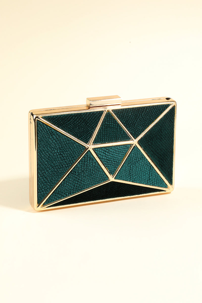 Load image into Gallery viewer, Green Geometric Figure Handbag