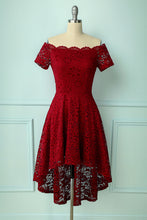 Load image into Gallery viewer, Burgundy Asymmetrical Dress