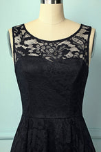 Load image into Gallery viewer, Black Asymmetry Lace Dress - ZAPAKA