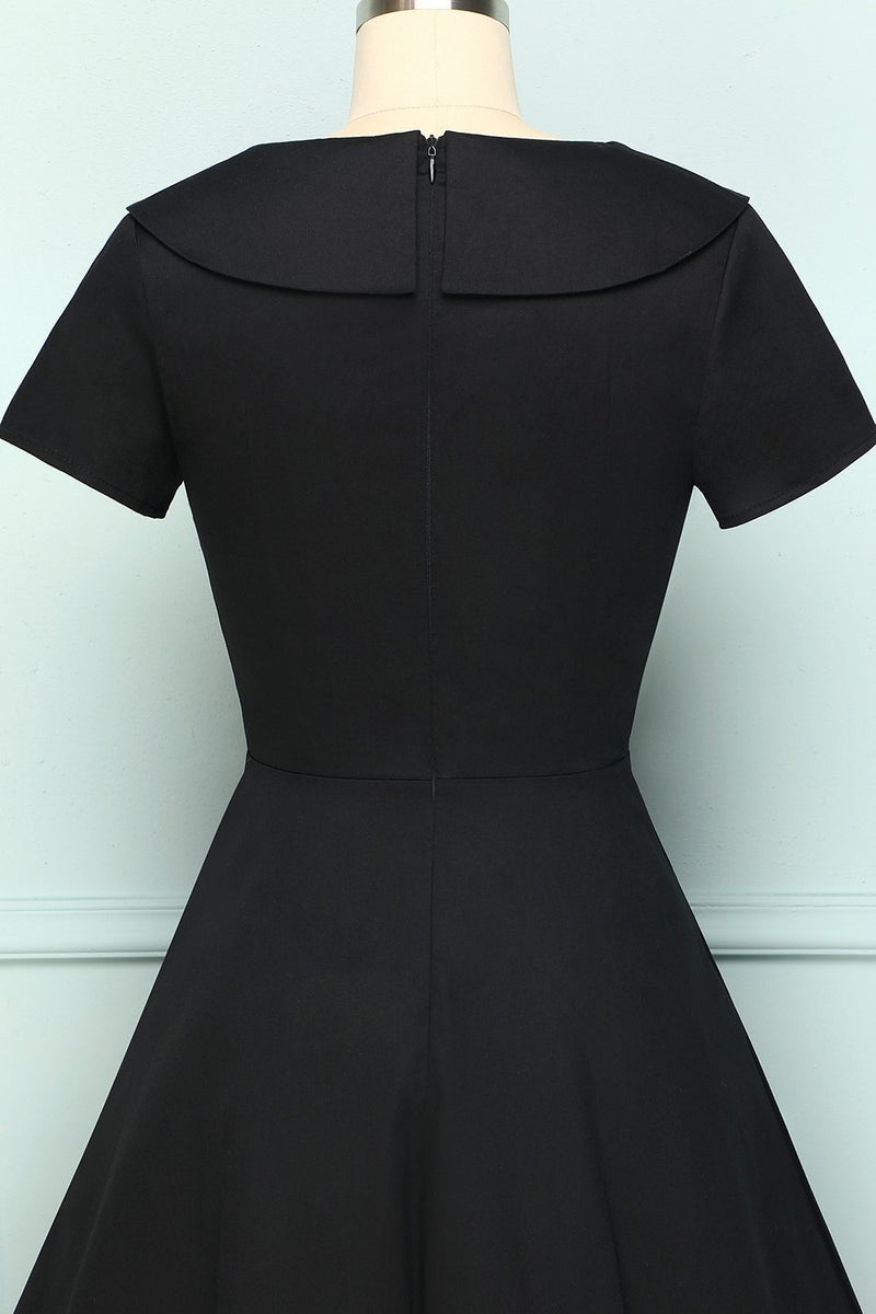 Load image into Gallery viewer, Black Button Dress - ZAPAKA