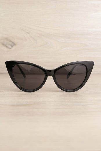 Black Cat Eye Sunglasses - ZAPAKA