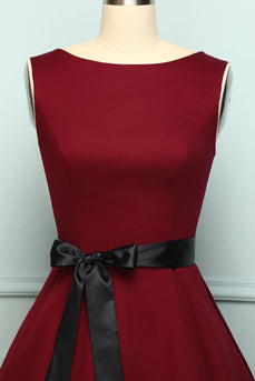 Burgundy Swing Dress - ZAPAKA