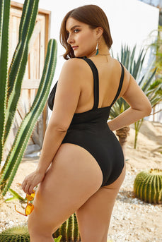 Plus Size Black One Piece Swimsuits