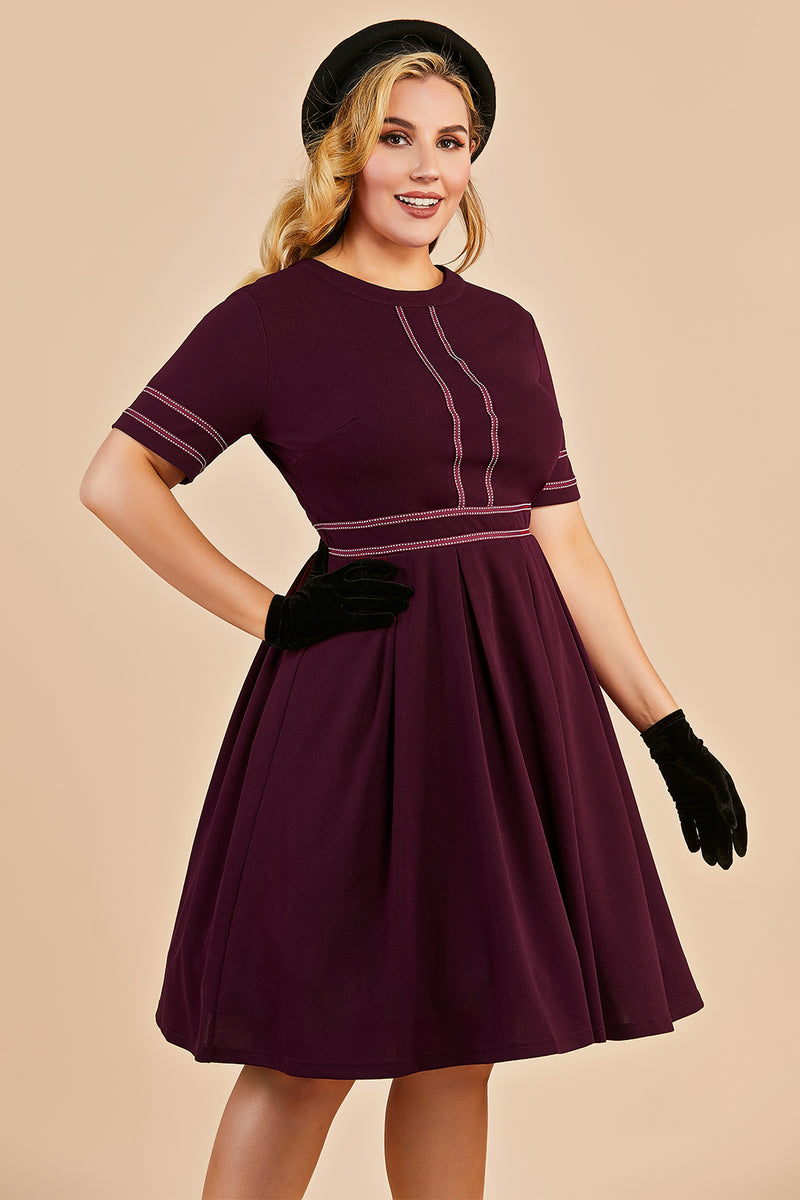 Load image into Gallery viewer, Vintage Plus Size Dress With Sleeves