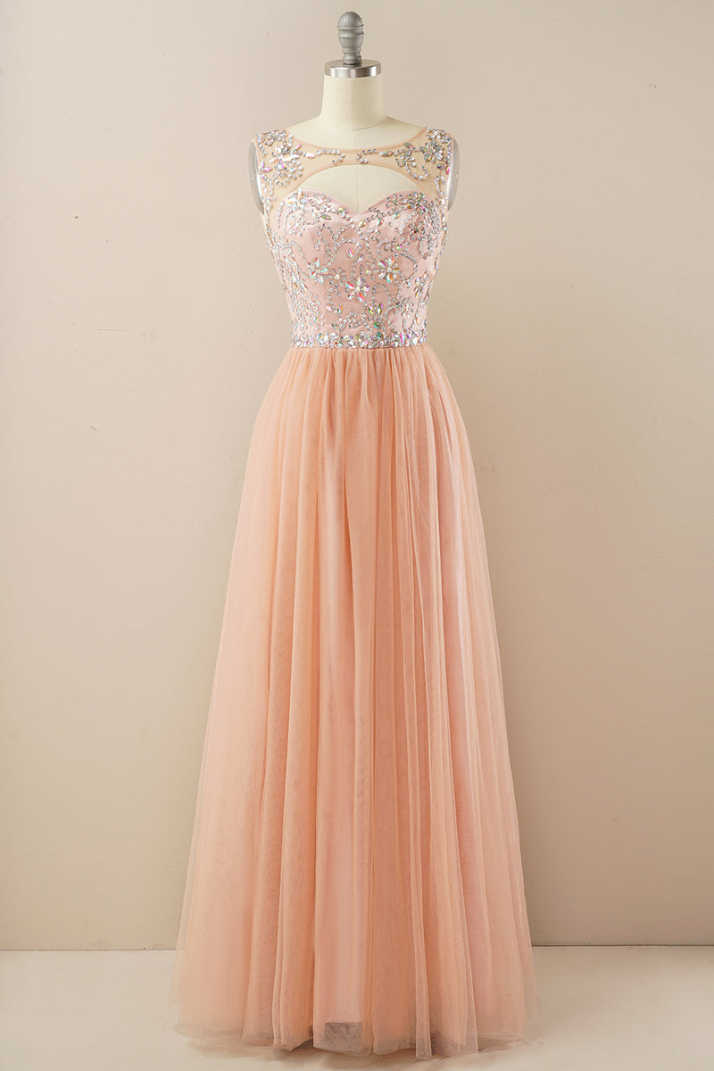 Load image into Gallery viewer, Beading Tulle Prom Dress