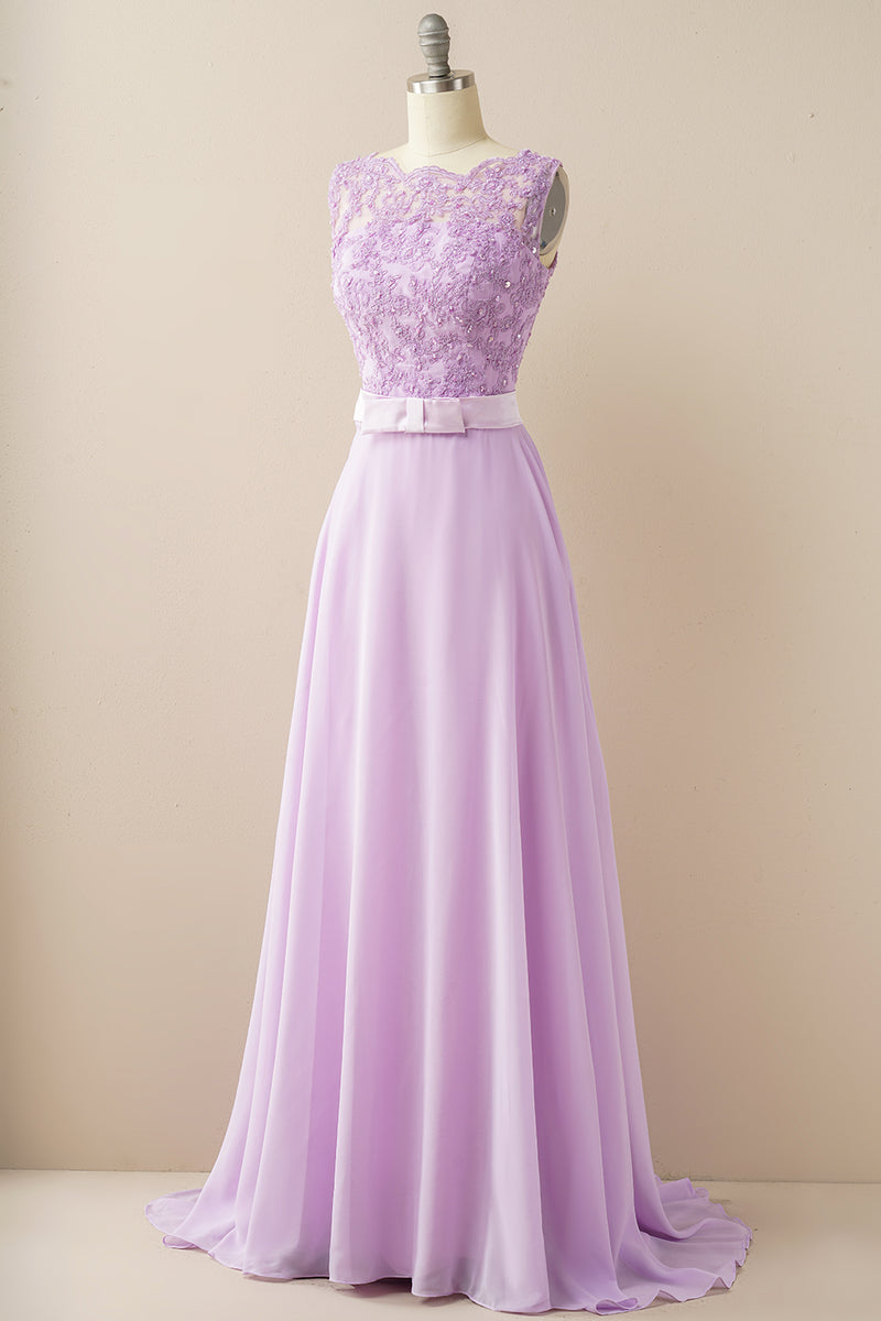 Load image into Gallery viewer, Applique Long Prom Dress