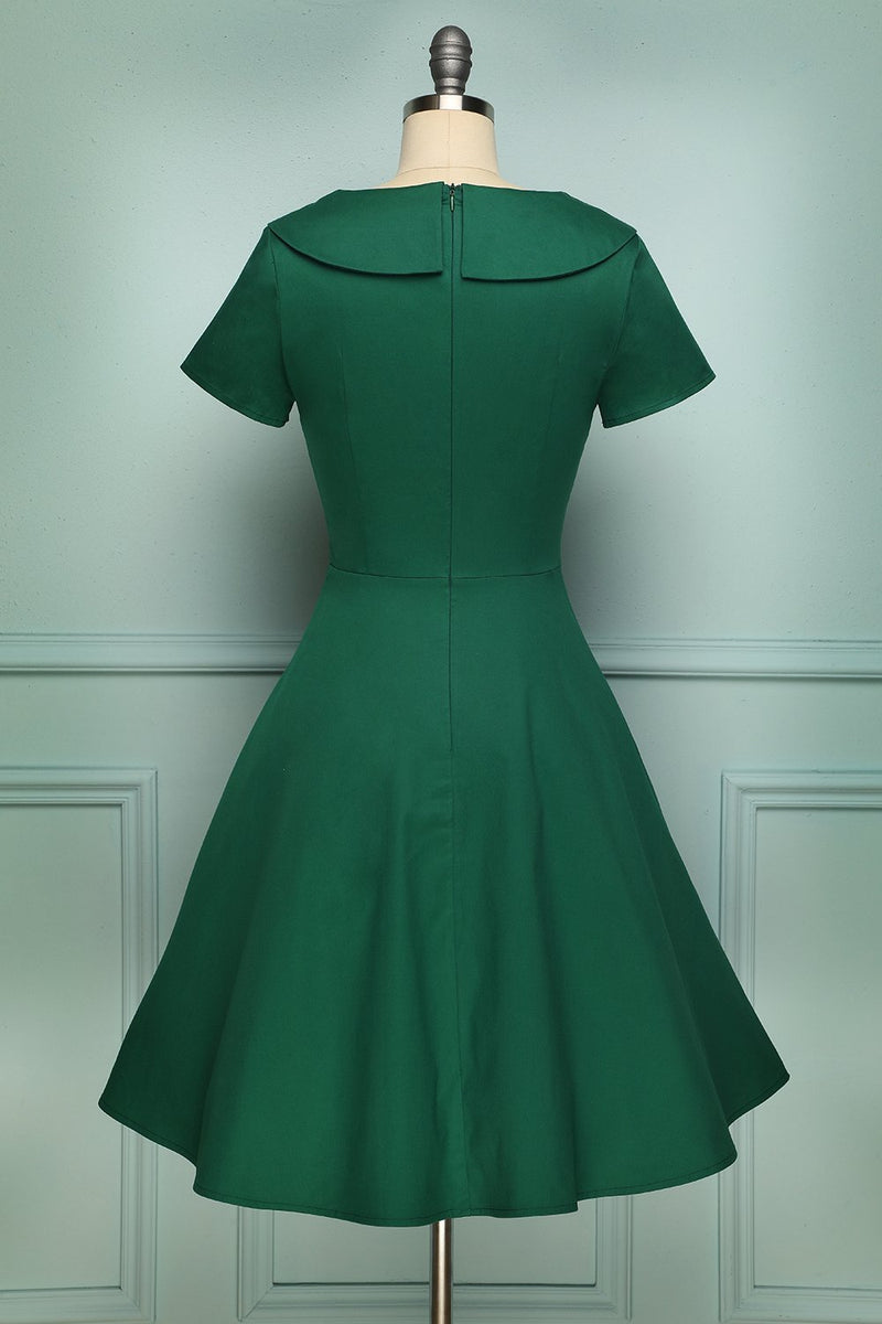 Load image into Gallery viewer, Green Button Dress - ZAPAKA