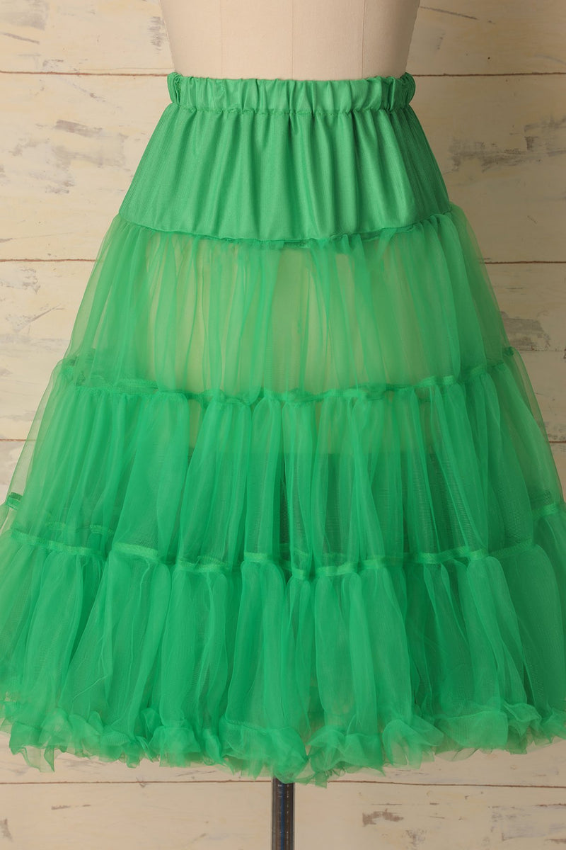Load image into Gallery viewer, Green Tulle Petticoat - ZAPAKA