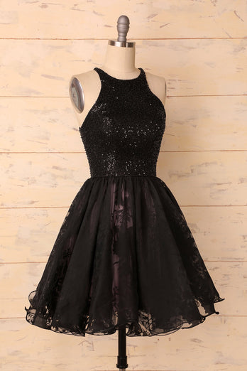 Mini Black Dress - ZAPAKA
