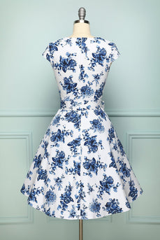 Print Foral 1950s Swing Dress