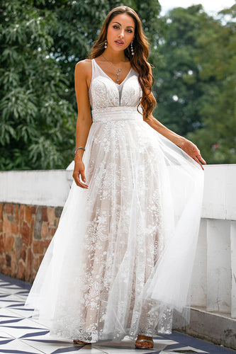 Pearl Pink Lace Prom Dress