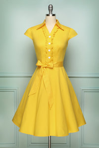 Yellow 1950s Swing - ZAPAKA