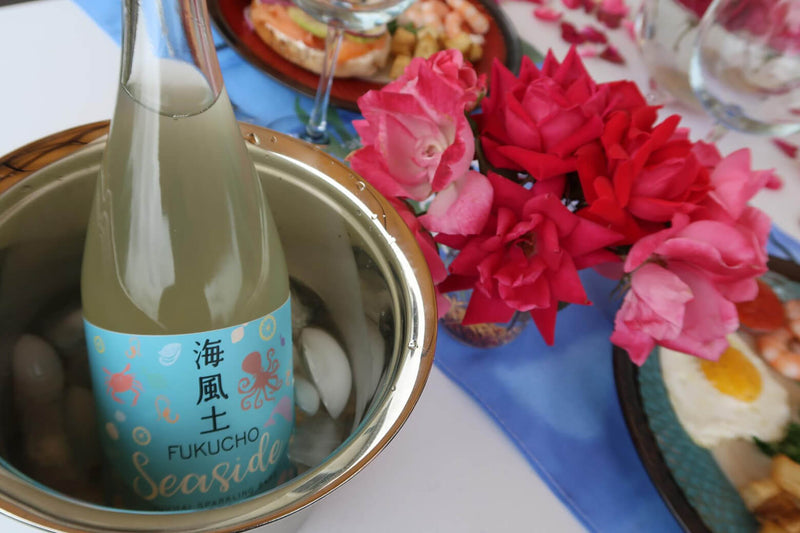 Sparkling sake brunch at home