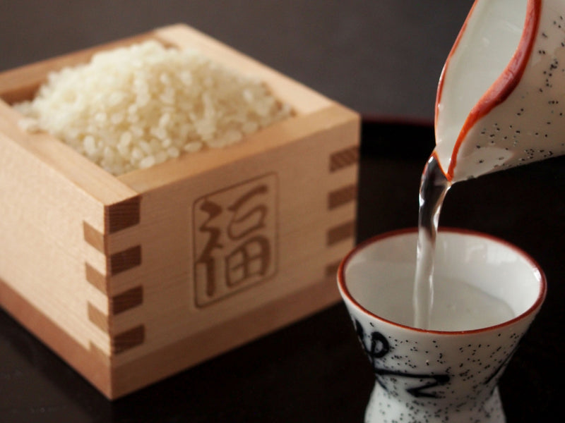 Sake is made from Rice