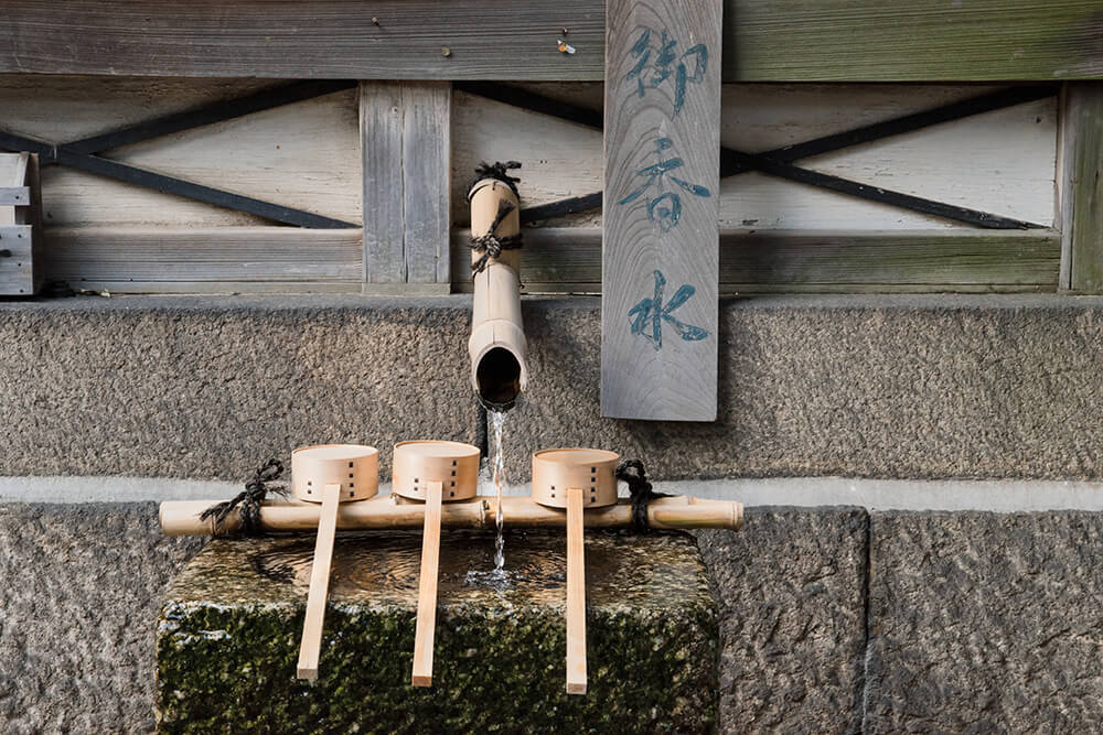 Spring water at a Kyoto shrine.
