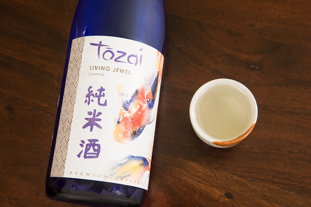 A bottle of Kyoto sake and a small cup