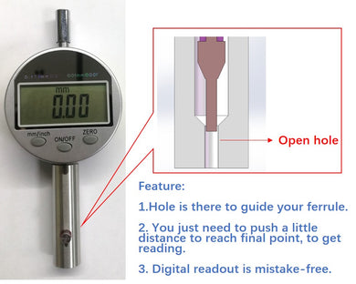 Device for measuring ferrule length (For Ferrule Diameter: 1.25 mm)