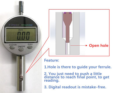 Device for measuring ferrule length (For Ferrule Diameter: 2.5 mm)