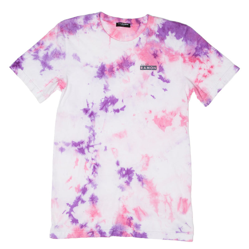 ,Pink Grape Tie Dye Unisex Tee - All For Ramon