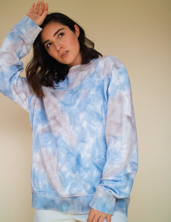 ,Deep Sea Tie Dye Unisex Crewneck - All For Ramon