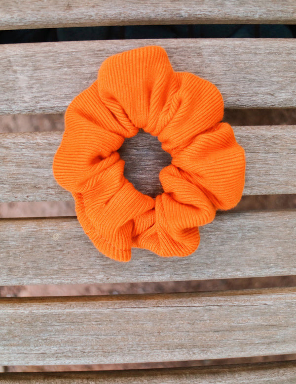 ,SUNSET ORANGE UPCYCLED SCRUNCHIE - All For Ramon