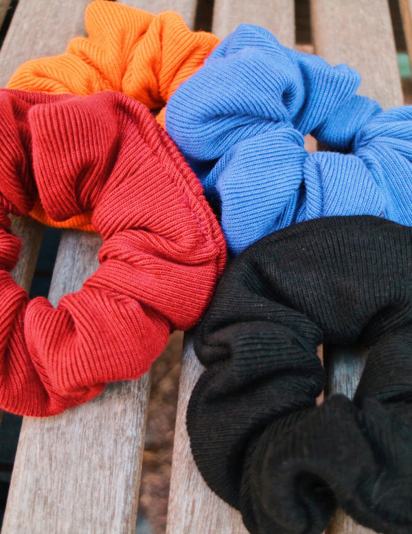 ,SUNSET NAVY UPCYCLED SCRUNCHIE - All For Ramon