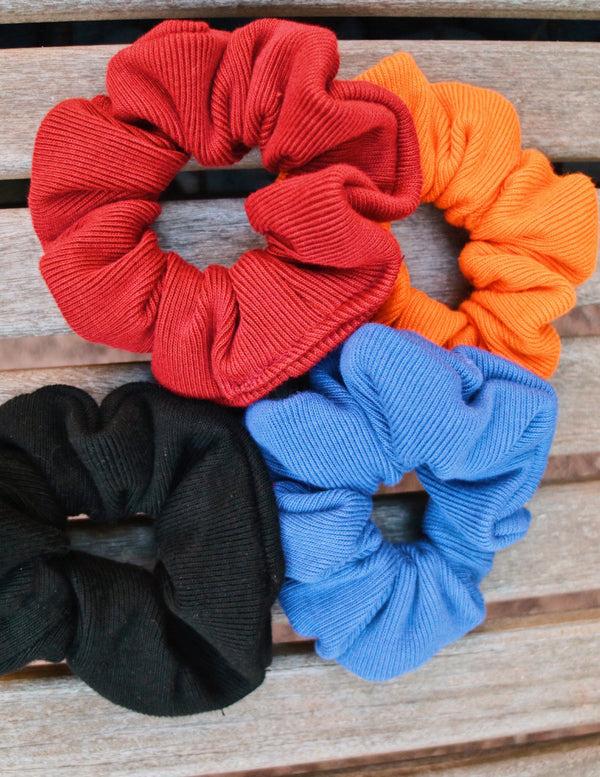 ,JET BLACK UPCYCLED SCRUNCHIE - All For Ramon
