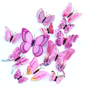 3D Butterfly Wall Stickers (12pcs)