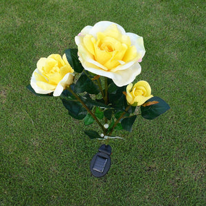 Waterproof Solar Powered Rose Flower Lights (2 PACK)