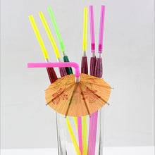Load image into Gallery viewer, Tropical Umbrella Cocktail Straws (50/100 PACK)