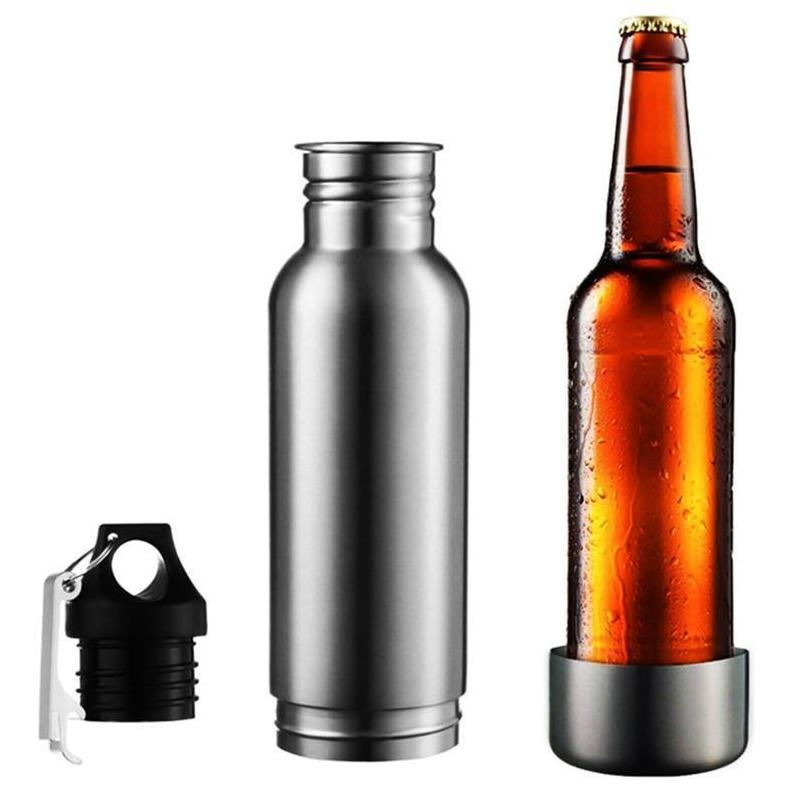Beer Insulator Bottle with Bottle Opener