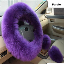 Load image into Gallery viewer, Plush Steering Wheel Cover (3 Pcs)
