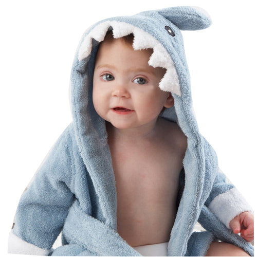 Cute Baby Shark Bathrobe