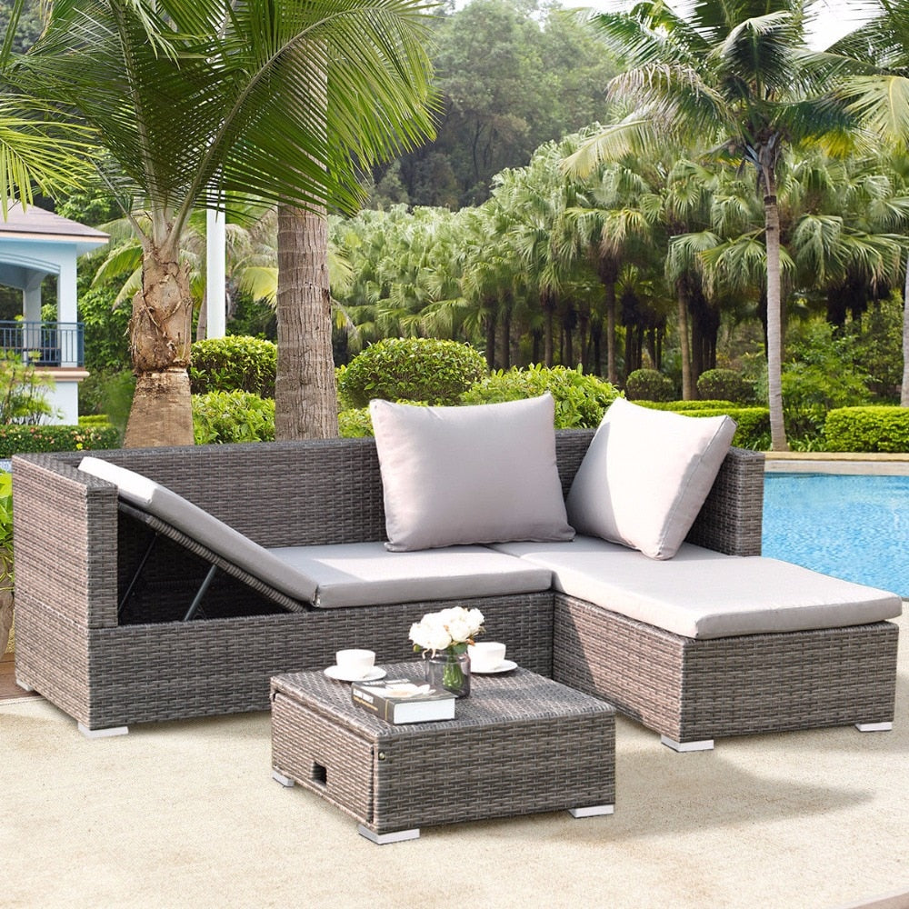 Rattan Wicker Sofa Set