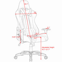 Load image into Gallery viewer, Racing Style Gaming Chair