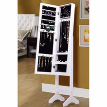 Load image into Gallery viewer, Jewelry Armoire Cabinet with Diamond Mirror