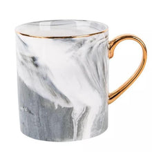 Load image into Gallery viewer, Elegant Marble & Gold Coffee Mug