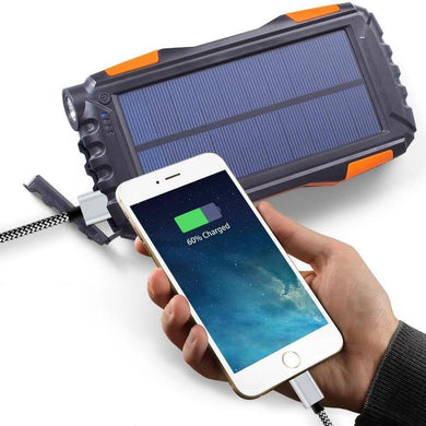 Waterproof Solar Power USB Power Bank