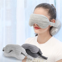 Load image into Gallery viewer, Travel Neck Pillow with Eye Mask