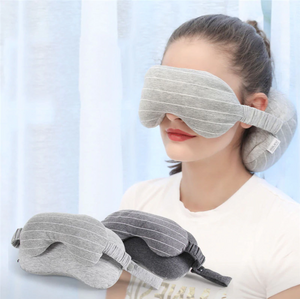 Travel Neck Pillow with Eye Mask
