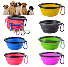 Load image into Gallery viewer, Collapsable Travel Dog Bowl