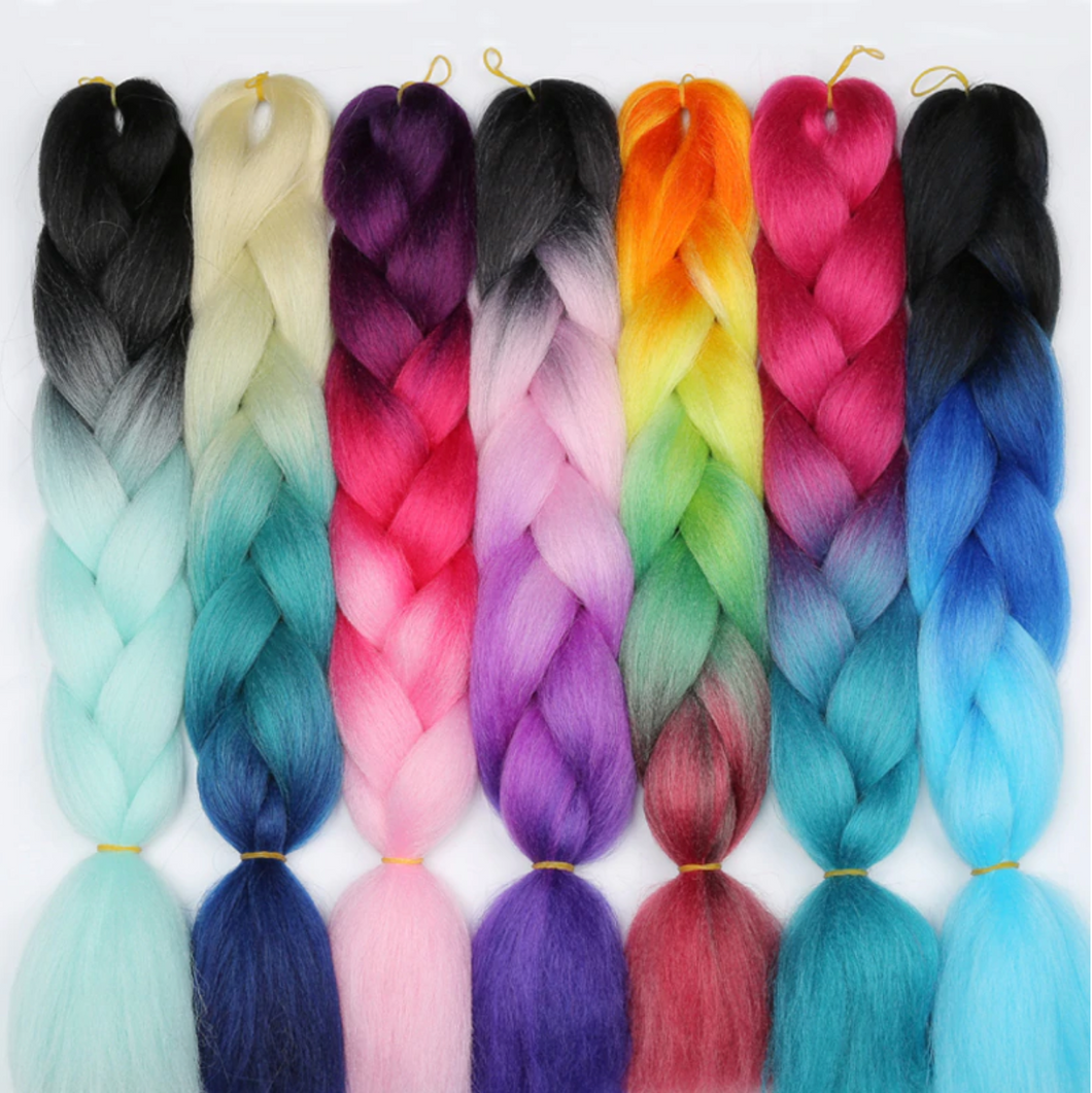 Long Ombre Synthetic Braiding Hair