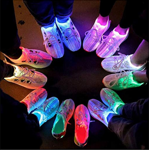 Cross Trainer Shoes with Fiber Optics