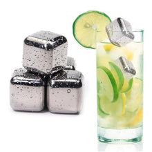 Load image into Gallery viewer, Stainless Steel Ice Cubes