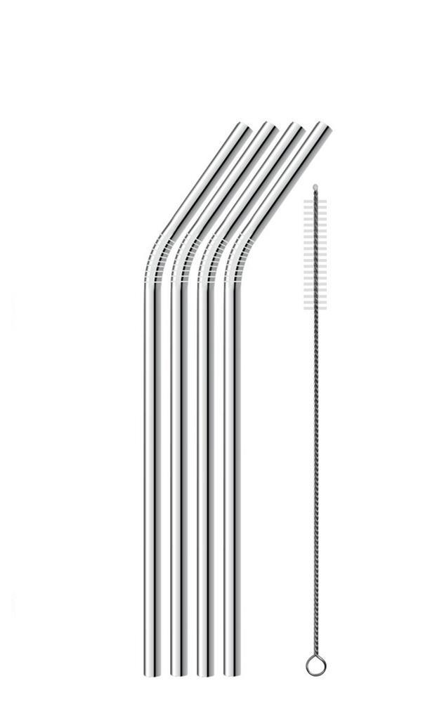 Re-usable Stainless Steel Straws (4 PACK)